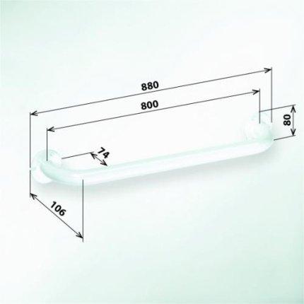 Bara suport ajutatoare 80 cm Bemeta Help alb