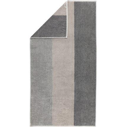 Prosop baie Cawo Polo Block Stripes 70x140cm, 73 platinum