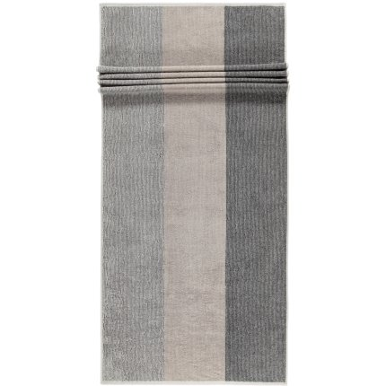 Prosop baie Cawo Polo Block Stripes 70x180cm, 73 platinum