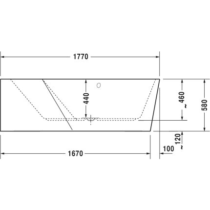 Cada asimetrica cu hidromasaj Duravit Paiova 5 177x130 cm cu Combi-System E, orientare stanga, alb