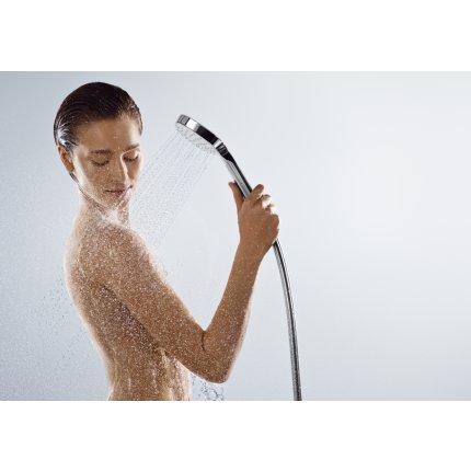 Set dus Hansgrohe Croma Select E Vario Porter cu para 110mm, agatatoare si furtun 1,25m, alb/crom