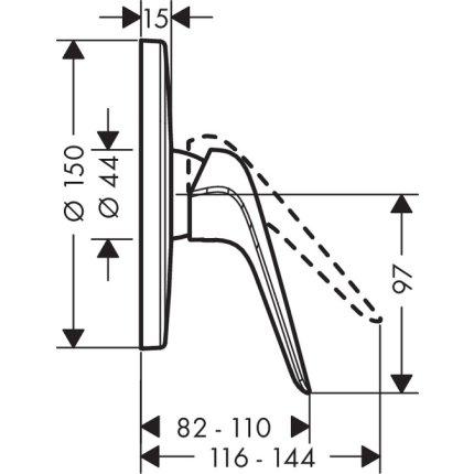 Baterie dus Hansgrohe Novus cu montaj incastrat, necesita corp ingropat