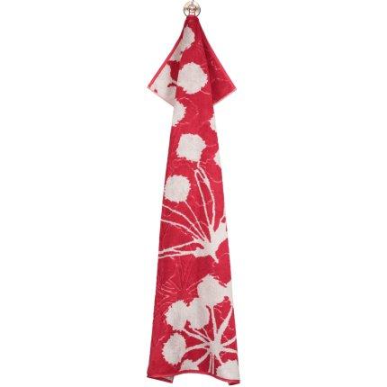 Prosop baie Cawo Cottage Floral 70x140cm, 27 rosu bordeaux