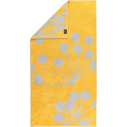 Prosop baie Cawo Cottage Floral 70x140cm, 57 curry
