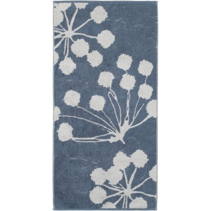 Prosop baie Cawo Cottage Floral 50x100cm, 17 albastru