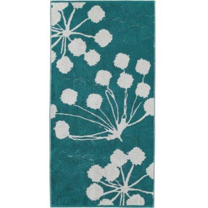 Prosop baie Cawo Cottage Floral 50x100cm, 47 smarald