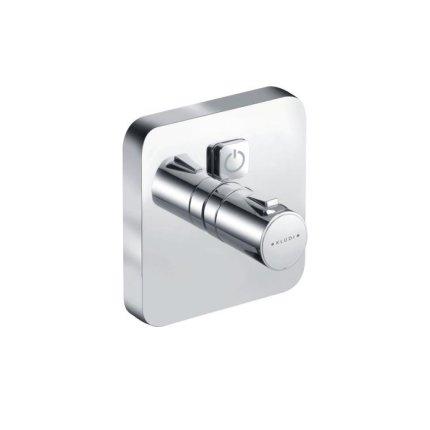 Baterie dus Kludi Push termostatata, montaj incastrat, necesita corp ingropat, 388010538