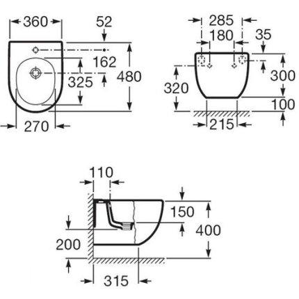 Vas WC suspendat Roca Meridian Compact