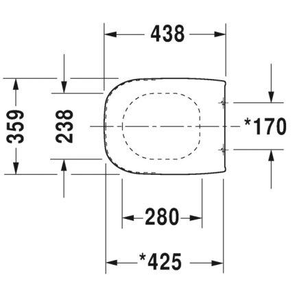 Capac WC Duravit D-Code cu inchidere lenta