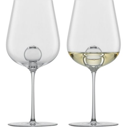 Set 2 pahare vin alb Zwiesel Glas Air Sense Chardonnay, design Bernadotte & Kylberg, handmade, 441ml