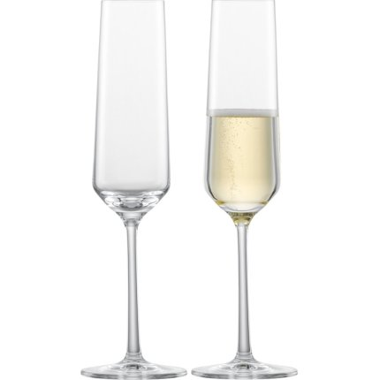 Set 2 pahare sampanie Zwiesel Glas Pure 215ml