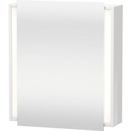 Dulap cu oglinda si iluminare Duravit Ketho 65x75cm, deschidere stanga, alb lucios