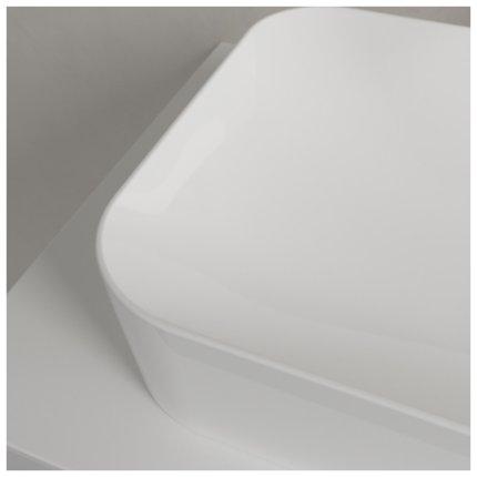 Lavoar Villeroy & Boch Finion 60x35cm, cu montare pe blat, fara orificiu baterie, fara preaplin, alb