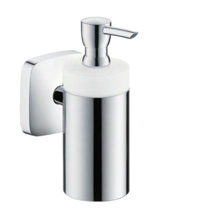 Dispenser sapun lichid Hansgrohe PuraVida cu montare pe perete, crom