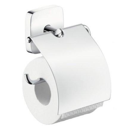 Suport hartie igienica Hansgrohe PuraVida cu aparatoare, crom