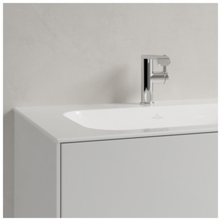 Lavoar Villeroy & Boch Finion 80x50cm, montare pe mobilier, fara preaplin, alb