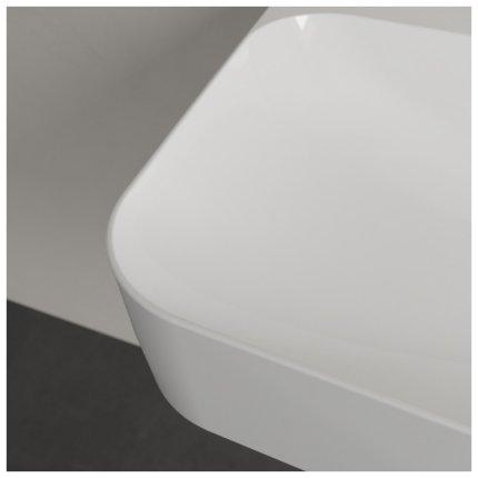 Lavoar Villeroy & Boch Finion 80x47cm, finisat suplimentar, alb