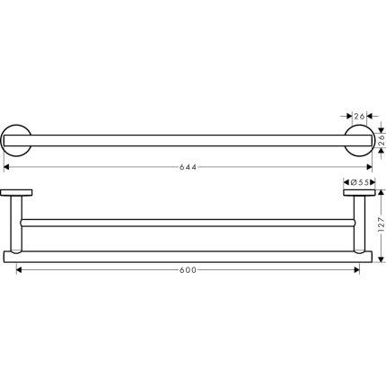 Suport prosop dublu Hansgrohe Logis Universal 60 cm