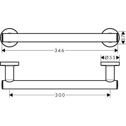 Bara sustinere Hansgrohe Logis Universal 30cm