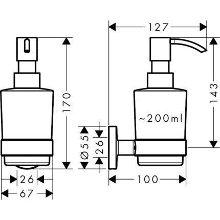 Dispenser sapun lichid Hansgrohe Logis Universal