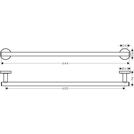 Suport prosop Hansgrohe Logis Universal 60 cm