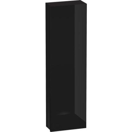 Dulap inalt suspendat Duravit Delos 176x50x25cm, deschidere dreapta, negru lucios lacuit