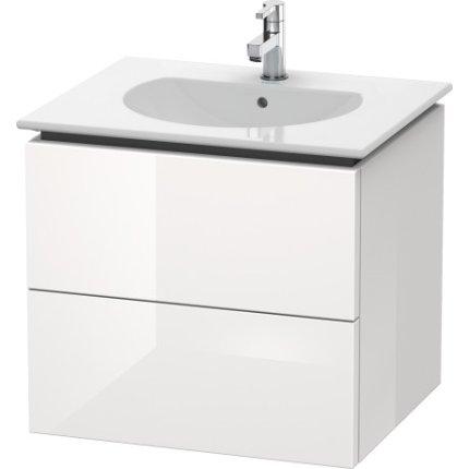 Dulap baza Duravit Delos 60x51.6cm, 2 sertare cu inchidere lenta, alb lucios