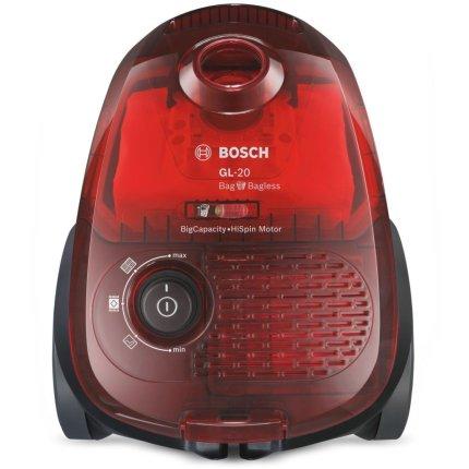 Aspirator Bosch BGL2UA2008 GL-20 Bag&Bagless 700W, motor HiSpin, cherry red