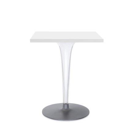 Masa Kartell TopTop design Philippe Starck & Eugeni Quitllet, 60x60cm, alb