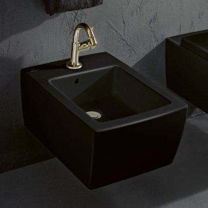 Bideu suspendat Villeroy & Boch Memento 2.0, 56x37.5cm, CeramicPlus, negru lucios