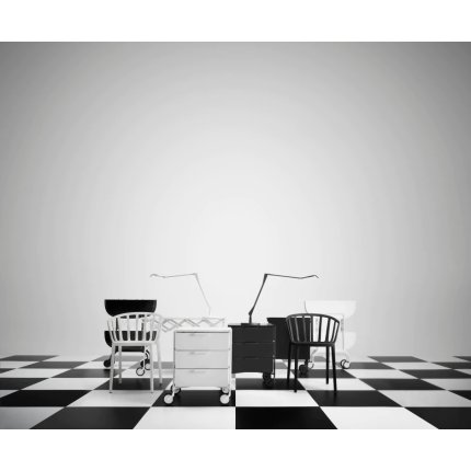 Comoda cu rotile Kartell Mobil Mat, design Antonio Citterio & Oliver Low, 49xc47.5cm, h63cm, alb mat