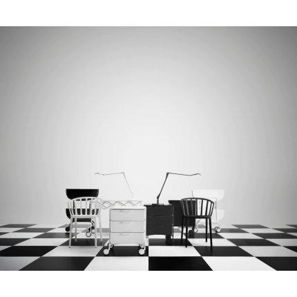 Comoda cu rotile Kartell Mobil Mat, design Antonio Citterio & Oliver Low, 49xc47.5cm, h63cm, negru mat