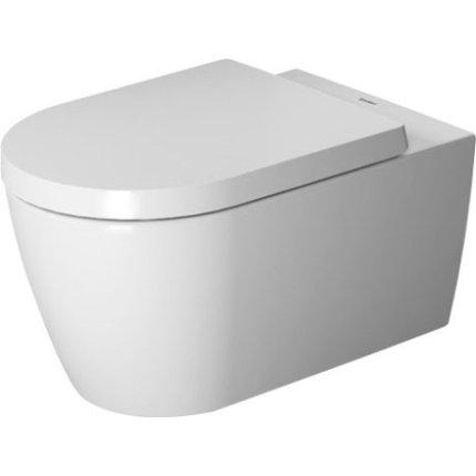 Set vas WC suspendat Duravit ME by Starck Rimless 57x37cm cu capac inchidere lenta