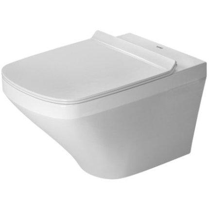 Set vas WC suspendat Duravit Durastyle Rimless 54cm, finisaj WonderGliss si capac inchidere lenta