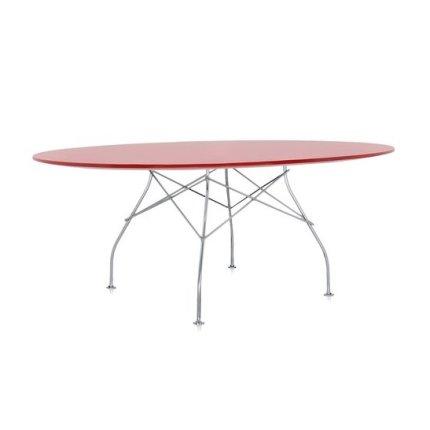 Masa ovala Kartell Glossy design Antonio Citterio & Oliver Low, 120x194cm, rosu Kartell