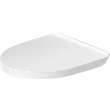 Set vas WC suspendat Duravit DuraStyle Basic Rimless Compact si capac cu inchidere lenta