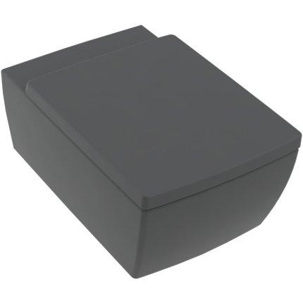 Capac WC Villeroy & Boch Memento 2.0 cu inchidere lenta, negru mat