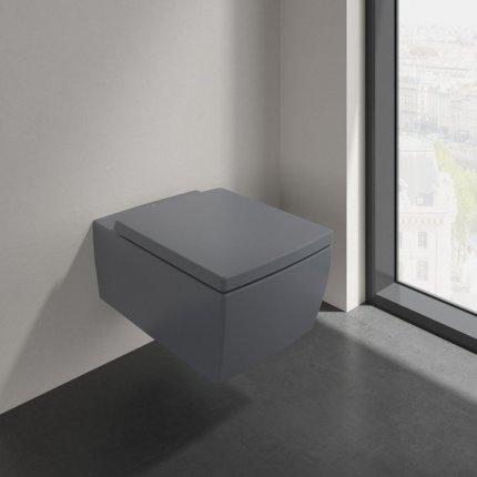Vas WC suspendat Villeroy & Boch Memento 2.0 DirectFlush, 56x37.5cm, CeramicPlus, negru mat