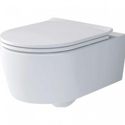 Set vas WC suspendat Villeroy & Boch Soul 37x53cm Direct Flush si capac cu inchidere lenta