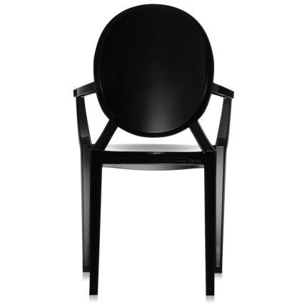 Scaun Kartell Louis Ghost design Philippe Starck, negru lucios