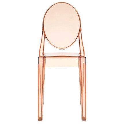 Scaun Kartell Victoria Ghost design Philippe Starck, roz transparent