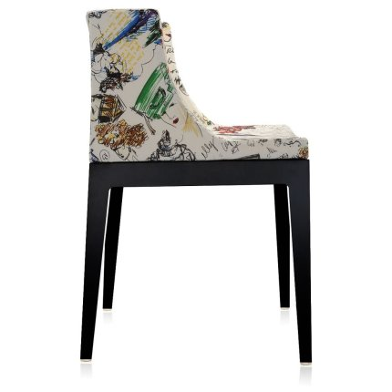 Scaun Kartell Mademoiselle design Philippe Starck, tapiterie Moschino, schite