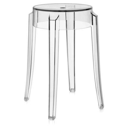 Taburet Kartell Charles Ghost design Philippe Starck, h45cm, transparent