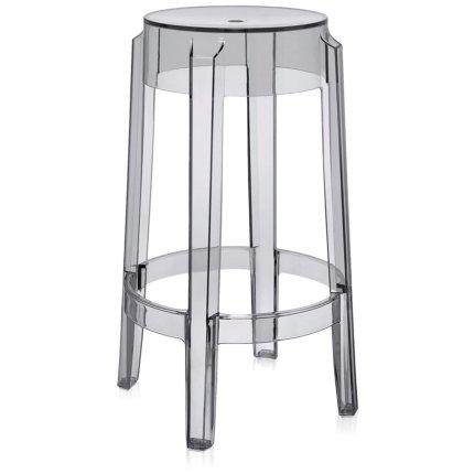 Scaun Kartell Charles Ghost 2005 design Philippe Starck, h65cm, gri transparent