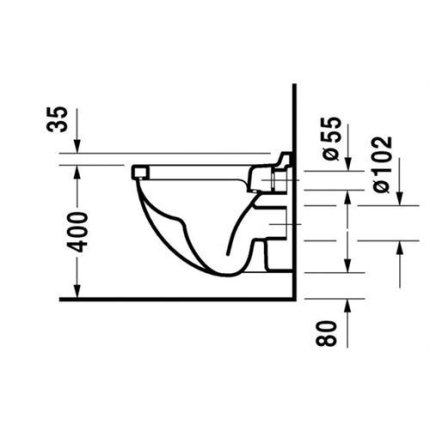 Vas WC suspendat Duravit Starck 3, 360x485 mm