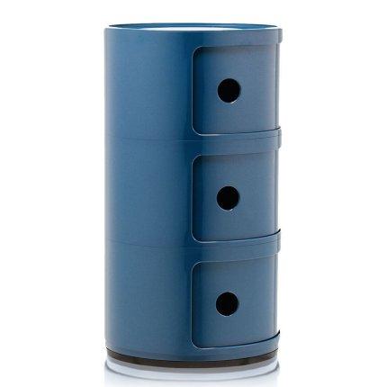 Comoda modulara Kartell Componibili 3 design Anna Castelli Ferrieri, albastru