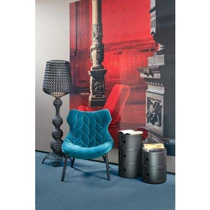 Comoda modulara Kartell Componibili 3 design Anna Castelli Ferrieri, negru mat