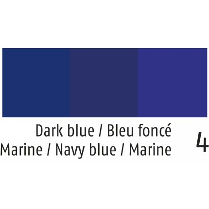 Fata de masa rotunda Sander Prints Anna d170cm, 4 albastru navy