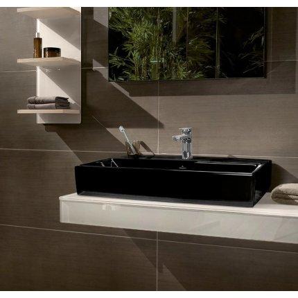 Lavoar tip bol Villeroy & Boch Memento 2.0 CeramicPlus, 60x42cm, negru lucios