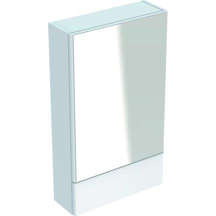 Dulap cu oglinda Geberit Selnova Square, 49.3x85x17.6 cm, alb lucios